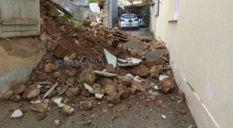Κατάρρευση οικίας στο Άργος – Έκλεισε ο δρόμος