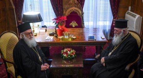 Συνάντηση Ιερώνυμου με τον αρχιεπίσκοπο Αλβανίας Αναστάσιο