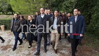 Συνάντηση με αγροκτηνοτρόφους του δήμου Φαιστού είχε ο Κ. Μητσοτάκης