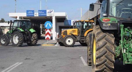 Συγκέντρωση διαμαρτυρίας για τη Συμφωνία των Πρεσπών πραγματοποίησαν αγρότες στο τελωνείο Ευζώνων