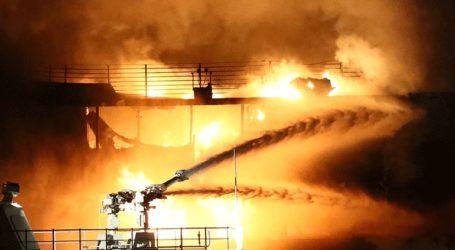 Δέκα οι νεκροί από την πυρκαγιά που σημειώθηκε σε δύο πλοία στον πορθμό του Κέρτς