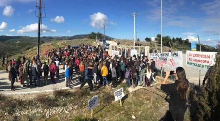 Πορεία διαμαρτυρίας μαθητών στον ΧΥΤΑ Μαραθώνα