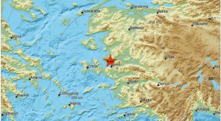 Σεισμική δόνηση 3,9R στη δυτική Τουρκία
