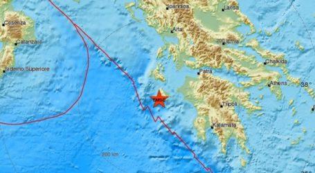 Σεισμός 3,8R νότια της Ζακύνθου
