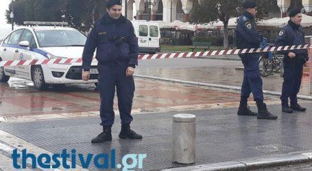Τηλεφώνημα για εκρηκτικό μηχανισμό σε υποκατάστημα τράπεζας στην Πλατεία Αριστοτέλους