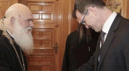 Τον αρχιεπίσκοπο Ιερώνυμο επισκέφθηκε ο πρέσβης του Καναδά, Μαρκ Άλεν