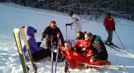 Δύο τραυματίες στο Χιονοδρομικό Κέντρο Πηλίου [εικόνες]