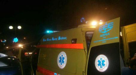 Τροχαίο το βράδυ της Τετάρτης στο κέντρο της Λάρισας – Μηχανάκι συγκρούστηκε με αυτοκίνητο