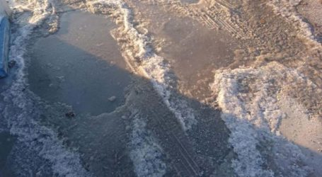 Προσοχή! Δρόμοι …για πατινάζ στη Λάρισα με -7 βαθμούς το πρωί της Κυριακής (φωτο)