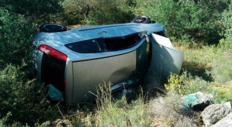 ΤΩΡΑ: Αυτοκίνητο έπεσε σε χαντάκι στο Πήλιο