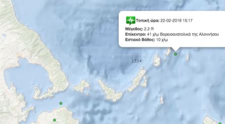 Τρεις ασθενείς σεισμικές δονήσεις στις Βόρειες Σποράδες