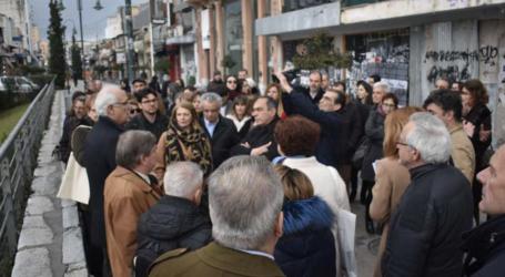 Ξενάγηση στο πλαίσιο του συνεδρίου για την αστική κινητικότητα από τον Καλογιάννη στο κέντρο της Λάρισας (φωτο-βίντεο)