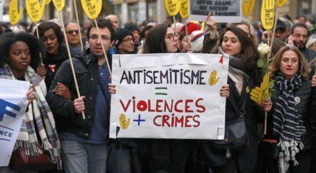 Διαδηλώσεις κατά του αντισημιτισμού με τη συμμετοχή πολιτικών