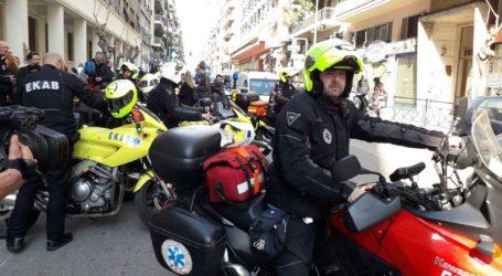 Ταχεία ανταπόκριση σε κρίσιμα περιστατικά από το μηχανοκίνητο τμήμα του ΕΚΑΒ
