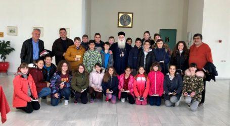 Επίσκεψη μαθητών του 2ου Δημοτικού Σχολείου Ν. Ιωνίας στον Μητροπολίτη Δημητριάδος
