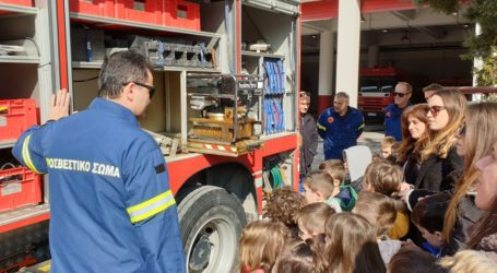 Εκπαιδευτική επίσκεψη του Νηπιαγωγείου της Ιεράς Μητρόπολης Δημητριάδος στην Πυροσβεστική