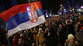 Διαδηλώσεις εναντίον του προέδρου Βούτσιτς