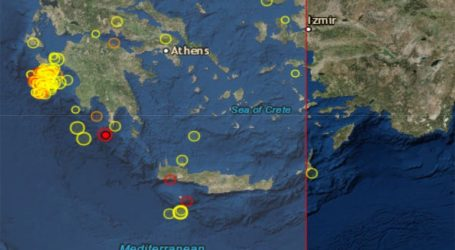 Σεισμός 4,4R νότια της Κορώνης