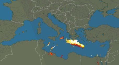 Γέμισε… κεραυνούς ο χάρτης της Κρήτης!