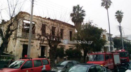 Κατέρρευσε η στέγη νεοκλασικού κτηρίου σε κεντρικό σημείο της πόλης