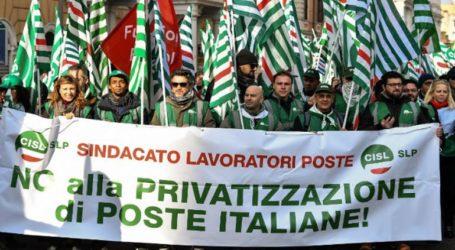 Μεγάλη διαδήλωση στη Ρώμη ενάντια στην οικονομική πολιτική της κυβέρνησης