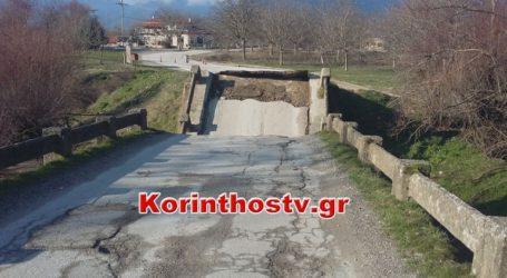 Γκρεμίστηκε γέφυρα στον Φενεό Κορινθίας