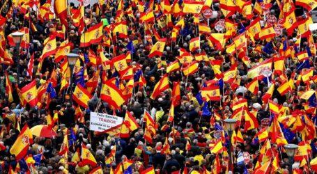 Διαδήλωση κατά της πρότασης Σάντσεθ για την διεξαγωγή συνομιλιών με την Καταλονία