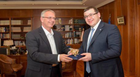 Συνάντηση ΑΝΥΕΘΑ Παναγιώτη Ρήγα με τον Υφυπουργό Άμυνας της Λιθουανίας Edvinas Kerza