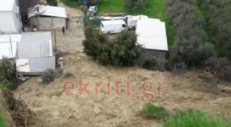Νέες κατολισθήσεις στο Ηράκλειο – Αποκλείστηκαν σπίτια