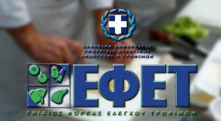 Επιβολή προστίμων σε επιχειρήσεις τροφίμων
