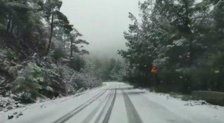 Επέλαση του χιονιά στην Λέσβο