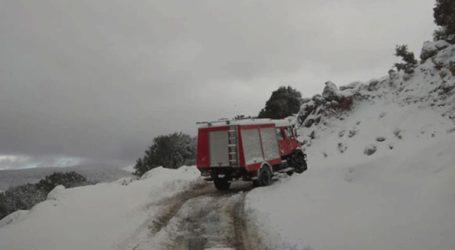 Δύο άτομα εγκλωβίστηκαν στο όρος Αίνος λόγω της πυκνής χιονόπτωσης