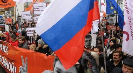 Πορεία στην μνήμη του δολοφονημένου Μπορίς Νεμτσόφ