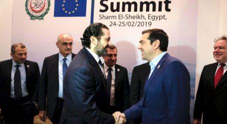 Την ενίσχυση των διμερών σχέσεων Ελλάδας – Λιβάνου συζήτησαν Τσίπρας