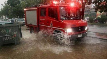 Δεκάδες κλήσεις στην Πυροσβεστική για κοπές δέντρων και απαντλήσεις υδάτων