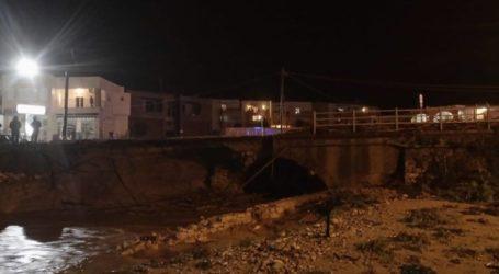 Κατέρρευσε τμήμα γέφυρας στον Σταυρωμένο Ρεθύμνου
