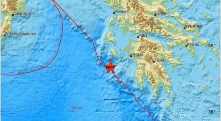 Σεισμός 3,3R βόρεια της Ζακύνθου