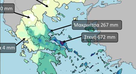 Πολύ μεγάλες οι γεωγραφικές διαφορές στην κατανομή της βροχής που έπεσε τον Φεβρουάριο στην Ελλάδα