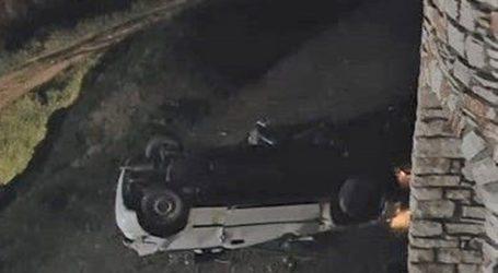 Αυτοκίνητο με δυο επιβάτες στη Νάξο εξετράπη της πορείας του και έπεσε στο κενό