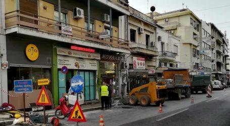 Ξεκίνησαν οι εργασίες στα πεζοδρόμια της οδού Ελ. Βενιζέλου στον Βόλο [εικόνες]