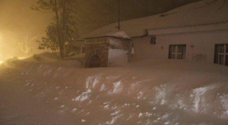 Ώρα 20.00: Κοντά στα 2 μέτρα το χιόνι στο Πήλιο – Που χρειάζονται αλυσίδες