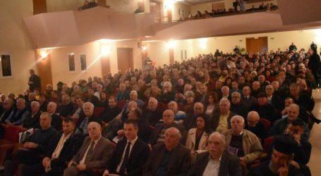 Πλήθος κόσμου σε εκδήλωση για τη Μακεδονία με ομιλητή τον Σάββα Καλεντερίδη (φωτο – βίντεο)