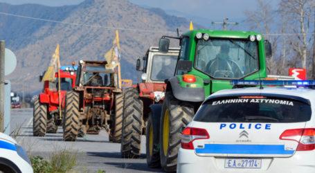 Κυκλοφοριακές αλλαγές λόγω αγροτών – Από την παλιά εθνική Βόλου – Λάρισας τα οχήματα