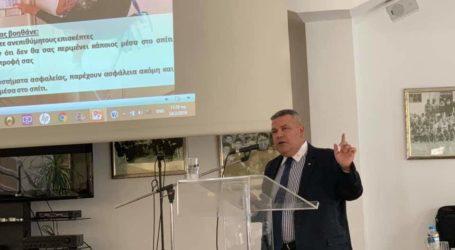Καλεσμένος σε ομιλία στο Δήμο Σαρωνικού, ο Άγγελος Αγραφιώτης