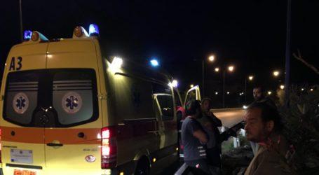 Τροχαίο στην εθνική οδό έξω από τον Βόλο – Δύο τραυματίες
