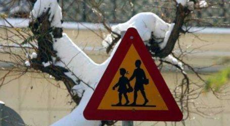 Κλειστά τα σχολεία σε περιοχές της Μαγνησίας λόγω χιονιού