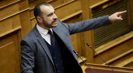Π. Ηλιόπουλος:  Μόνο η Χρυσή Αυγή μπορεί να νομοθετήσει υπέρ των εθνικών συμφερόντων