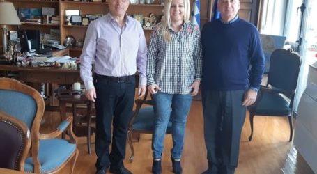 Συνάντηση αντιπροσωπείας Ολυμπιακού Βόλου με Δωροθέα Κολυνδρίνη