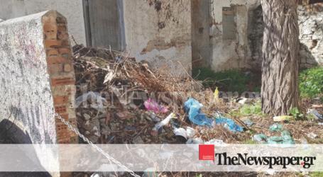 Οικόπεδο – χωματερή στο κέντρο του Βόλου