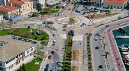 Διαμορφώνεται ο νέος κυκλικός κόμβος στο Δημαρχείο – Δείτε πως θα γίνει [εναέρια πλάνα]